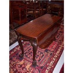 Period Mahogany Chippendale Drop-Leaf Table #2353939