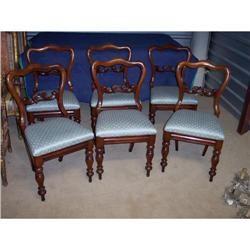 Set of Six Victorian Mahogany Dining Side #2353940