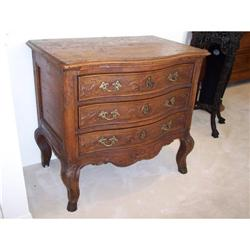 French Provincial Louis XV Oak Commode Chest of#2353946