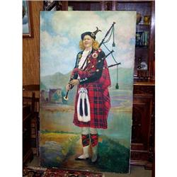 Signed Oil on Canvas of Scottish Highlander #2353949