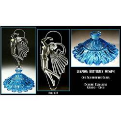 LEAPING BUTTERFLY NYMPH AQUA GLASS PERFUME #2353954