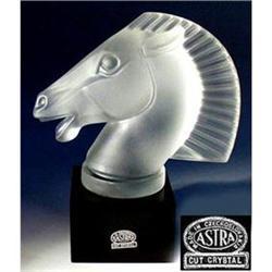 """HORSE CAR MASCOT HOOD ORNAMENT """"LONGCHAMPS"""" #2353971"""