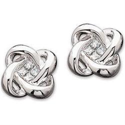 WHITE GOLD DIAMOND EARRINGS ELEGANT #2353979
