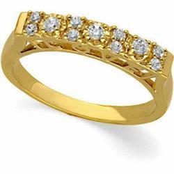 14K GOLD DIAMOND WEDDING BAND #2353980