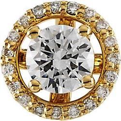 GOLD DIAMOND EARRING JACKETS HALO  #2353981
