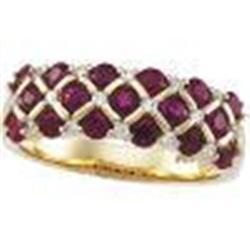 GOLD RUBY DIAMOND WEDDING BAND STUNNING! #2353983