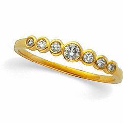 14k GOLD WEDDING BAND 7 DIAMOND #2353984