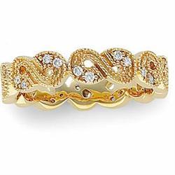 14K GOLD WEDDING BAND 24 DIAMOND #2353985