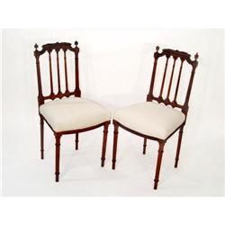 MBW  Pair 19th Century Walnut Chairs  #2353994