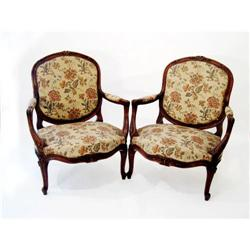 JC Pair LXV Style Arm Chairs #2354002