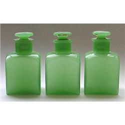 McKee Jadite Glass Art Deco Lotion Bottle Set #2354040