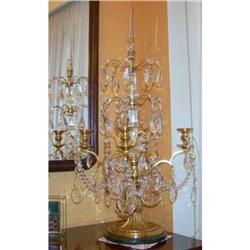 French  Candelabra  Bronze and  Crystal #2367482