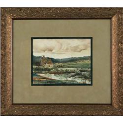 Alice Beek ?Landscape? original watercolor #2367490