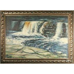 Contemporary Realist Painting Waterfall by #2367499