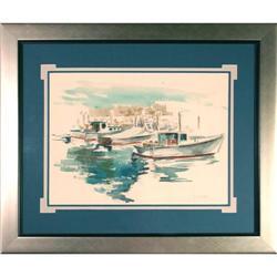 Boats maritime sea watercolor painting MacIsaac#2367500