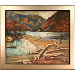 """Mountains with Driftwood"" by Robert #2367501"