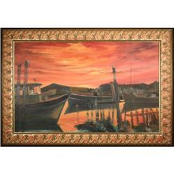 Contemporary Maritime Original Oil Painting, #2367502