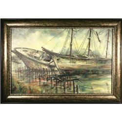 ontemporary Maritime Original Oil Painting, #2367504