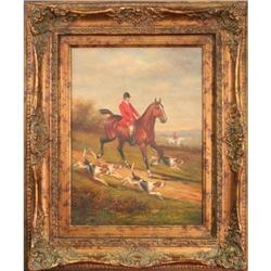 Horse dogs hunting painting- Rothschild #2367505