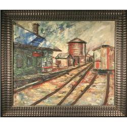 Contemporary Abstract Expressive Railroad #2367507