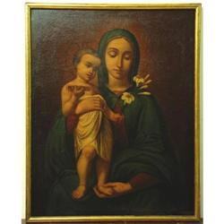 OIL . MADONNA WITH LITTLE CHILD. MASTERPIECE OF#2367512