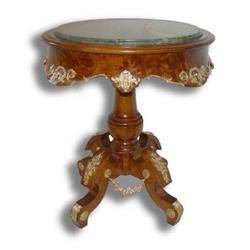 LOUIS XV REGENCE CENTER TABLE w/MARBLE TOP #2390537
