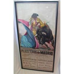 Bullfighting Poster Madrid 1985 #2390544