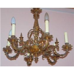 6 Lights Bronze chandelier #2390547