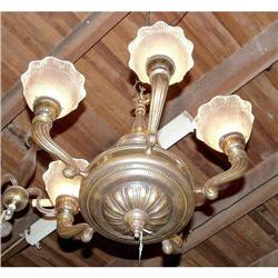 French chandelier with original shades 5 L #2390550