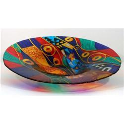 Large Art Glass Charger #2390565