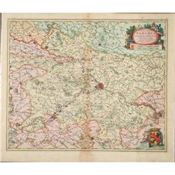 Map Comitatus Namurci Belgium Europe Visscher #2390567