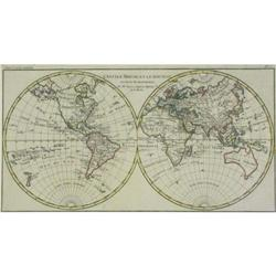 Map Ancien Monde Bonne 1780 World hemispheres #2390569