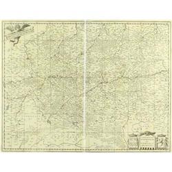 Map Comitatuum Hannoniae Blaeu 1663 Belgium #2390570
