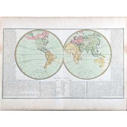 Antique Map World Monde Clouet 1769 #2390573
