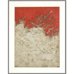 Contemparary Modern Abstract Lithograph Beliff #2390576