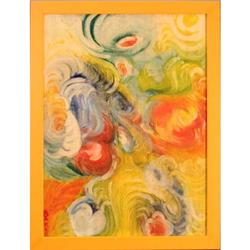 Swirls of Color abstract modern painting #2390577