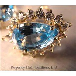 RHJ Simulated Aqua (Cubic Zirconium) Earrings #2390600