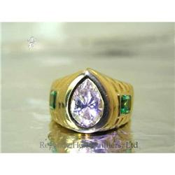 RHJ Bezel Set Pear White Cubic Zirconium Ring #2390602