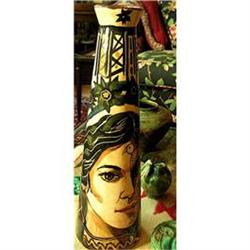 tall PORTRAIT VASE spanish woman NATIVE #2390603