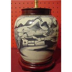 CHINESE EXPORT BLUE CANTON GINGER JAR #2390627