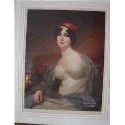COLORED MEZZOTINT OF MRS. DRUMMOND,BUSIERE #2390630