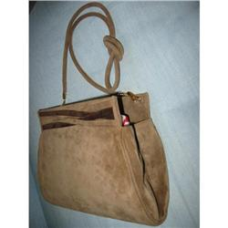 Salvatore Ferragamo suede handbag Firenze Ital!#2390650