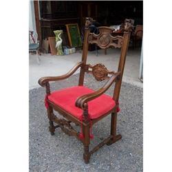 French walnut armchair C.1940 #2390656