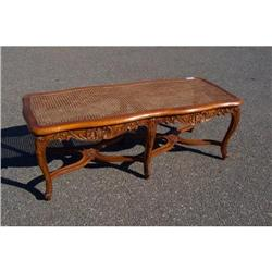 Country french caned bench #2390667