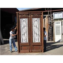 Amazing double entry door with wrought iron #2390673