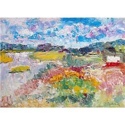 """Village Myshkino"" oil in impressionism style. #2390688"