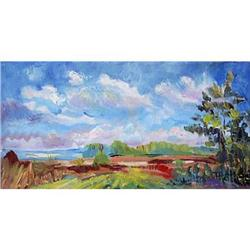 """""""Sunny day"""" oil in impressionism style. #2390692"""