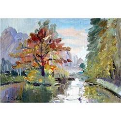 """Sokolniki. An oaklet"" impressionism oil #2390695"