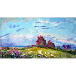 """""""Decline"""" oil in impressionism style. #2390696"""