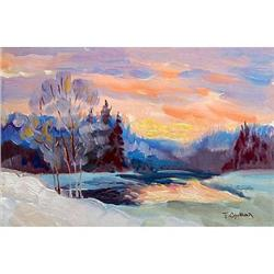"""""""Winter. Decline"""" oil in impressionism style #2390699"""